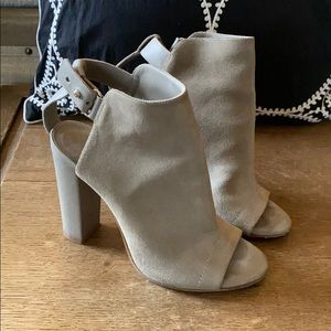 Sand colored suede VINCE heels